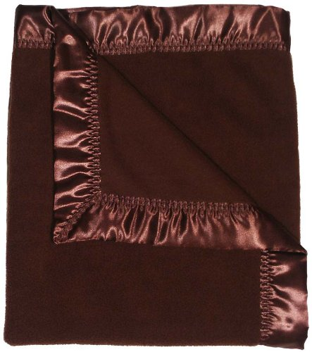 Raindrops Fleece Unisex Receiving Blanket, Chocolate