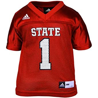North Carolina State Wolfpack NCAA Infant #1 Replica Jersey, Red by adidas