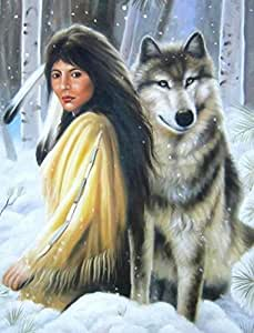 Amazon.com: Snow Wolf Painting quadros de parede Wall Pictures For