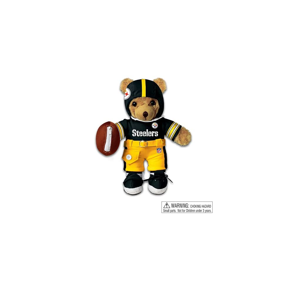 Pittsburgh Steelers Coaching Teddy Bear by Ashton Drake Toys & Games