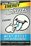 Sheets Energy Strip Extra Strength Mint Boost Energy Sheets, 8 Count