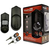 SimpliciKey SRCED-AB-2 Remote Control Electronic Deadbolt Door Lock, Aged Bronze