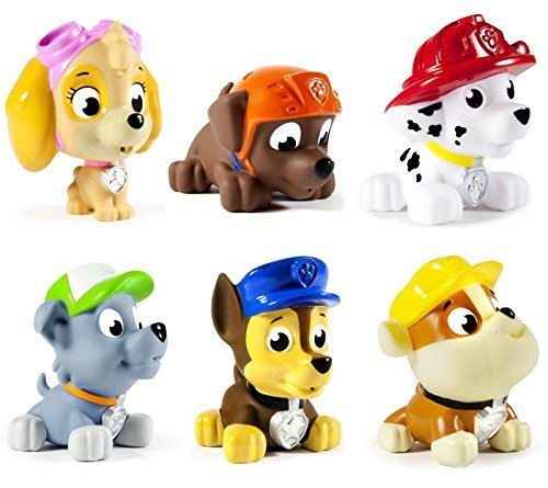 Paw Patrol Pup Squirters Complete Set 6 Characters Nickelodeon Spin Master - 1