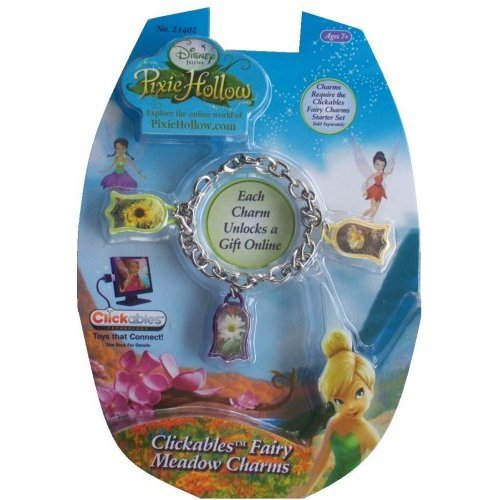 Disney Pixie Hollow Clickables Fairy Meadow Charms