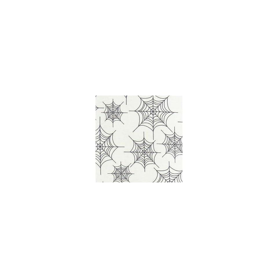 Robert Kaufman Eerie Alley Spider Web White Fabric