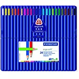 Staedtler Ergosoft 157 SB24 Triangular Colouring Pencils - Assorted Colours (Pack of 24)