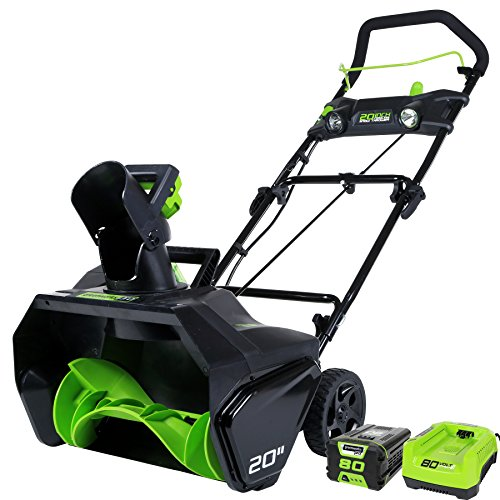 GreenWorks Pro 80V 20″ Snow Thrower w/ 2Ah Battery & Charger