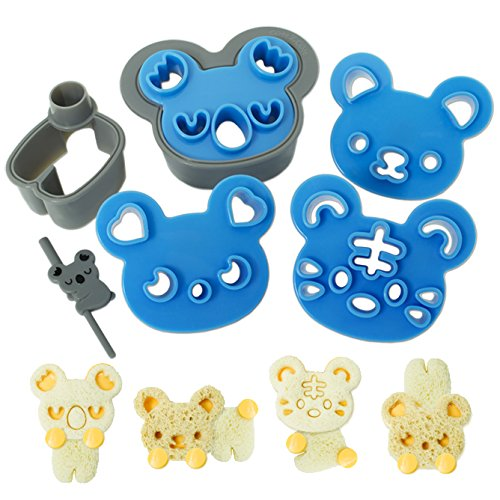 CuteZCute Sandwich Cutter and Cookie Stamp Kit, Cuddle Palz