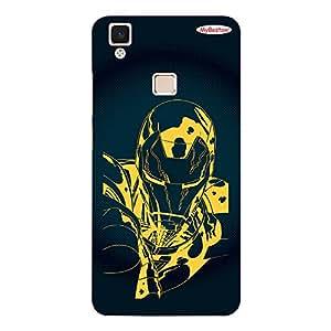 Black & Yellow Man Design - Mobile Back Case Cover For Vivo V3 Max