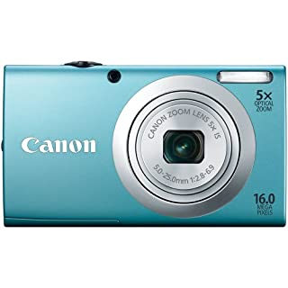 Canon PowerShot A2400 IS 16MP Digital Camera with 5x IS Zoom and 720p Video (Blue)