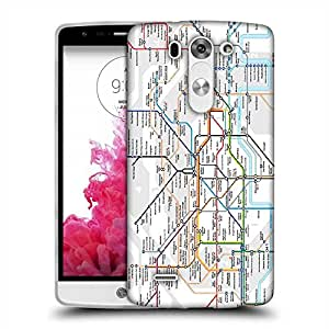 Snoogg London Tube Map Designer Protective Back Case Cover For LG G3 BEAT