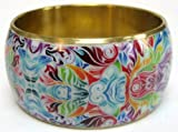 Metal bangle - multicoloured