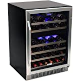 46-Bottle EdgeStar Built-In Dual-Zone Wine Cooler