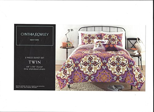 CYNTHIA ROWLEY Purple Medallion KING DUVET