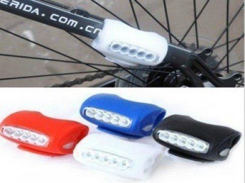 Eclairage Vélo 7 Led Silicone Bleu