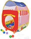 Animal Barn Twist Play Ball Tent House for Kids w/ Safety Meshing for Child Visibility & Tote