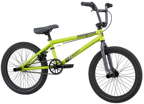 Mongoose Menace Boy's BMX/Jump Bike (20-Inch Wheels, Lime Green)