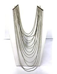 Eden Overseas Silver Metal Chain Necklace For Women