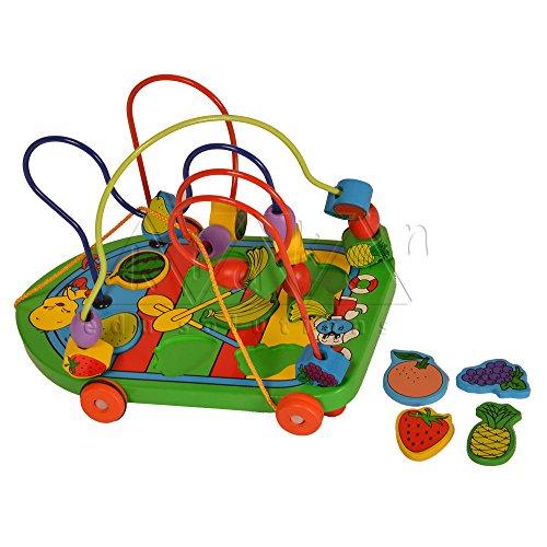 Kidken Fruits Bead Cart wooden toys,toys