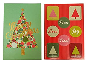The Gift Wrap Company Boxed Holiday Cards with Seals, Get Merry