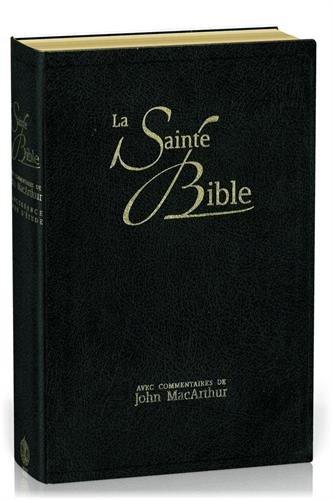 La Sainte Bible : Nouvelle édition de Genève 1979, couverture souple, fibrocuir, tranches or, noir