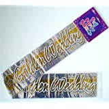 GOLDEN 50TH GOLD WEDDING ANNIVERSARY FOIL PARTY WALL DECORATION BANNER
