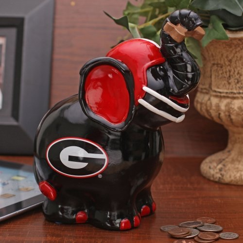 NCAA Georgia Thematic Elephant Piggy Bank