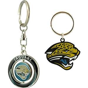 JF Sports Jacksonville Jaguars Keychains - Set of 2