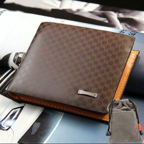 Stylish Mens PU Leather Wallet Pocket Card Clutch Bifold Purse