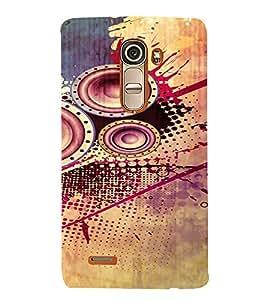 PrintVisa Modern Art Speaker Bass Design 3D Hard Polycarbonate Designer Back Case Cover for LG G4 Mini