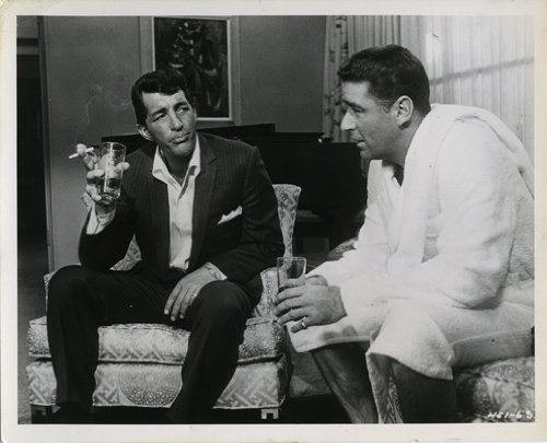 Oceans 11 Eleven Dean Martin Drinking Smoking Peter Lawford Original 8X10 Photo