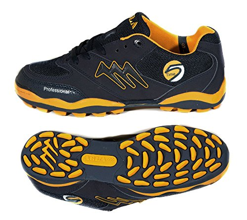 AGLA PROFESSIONAL TIME SLIM OUTDOOR blue/yellow scarpe calcetto calcio 5 futsal (EUR 36)