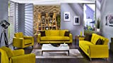 Fabio Lilyum Yellow 2 PC Living Room Set (Sofa Sleeper and Loveseat)