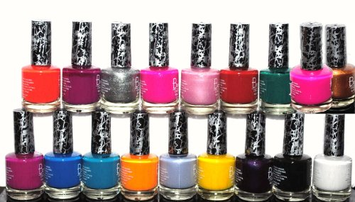 18 Piece Rainbow Crack Crackle Colorful Nail Polish Lacquer Set + 3 Scented Nail Polish Removal Pads