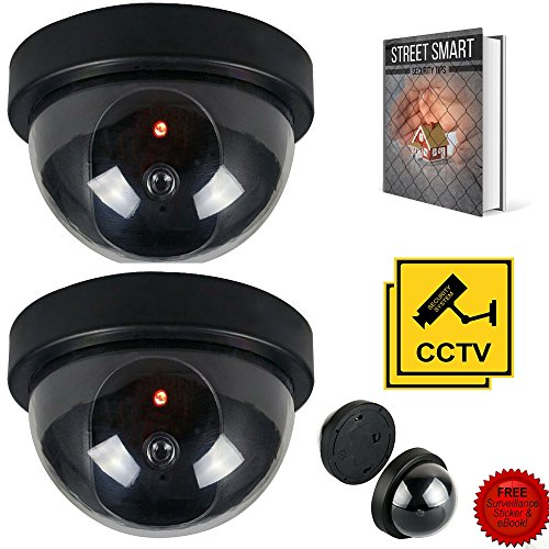 Rizmo ultimate bundle 2 pack indoor outdoor dome dummy camera rizmo ultimate bundle 2 pack indoor outdoor dome dummy camera with blinking led lights fake camera with free surveillance sign mozeypictures Choice Image