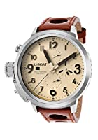 U-Boat Flightdeck 50 Automatic Breige Dial Brown Leather Mens Watch 7119 by U-Boat