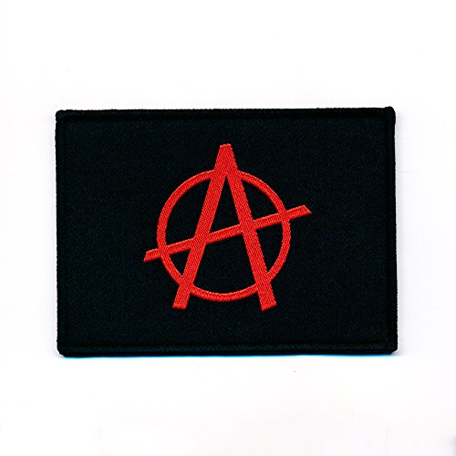 70 x 50 mm Anarchy anarchia Bandiera Flag Emblem toppa 0857 B