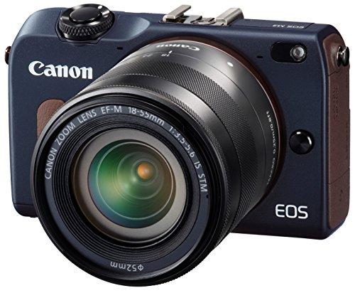 Canon ミラーレス一眼カメラ EOS M2 EF-M18-55 IS STM レンズキット (ベイブルー) EF-M18-55mm F3.5-5.6 IS STM付属 EOSM2BL-1855ISSTMLK