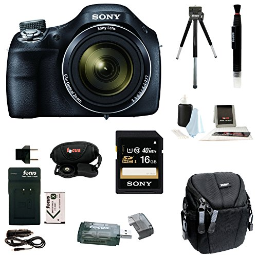 Sony Cyber-shot DSC-H400/B DSCH400 H400 Digital Camera with 16GB Accessory Bundle (Sony H300 Point And Shoot Camera compare prices)