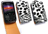 FLASH SUPERSTORE BLACKBERRY 8520 / 9300 CURVE 3G TEXTURED FLIP CASE/COVER/POUCH ANIMAL SKIN PRINT