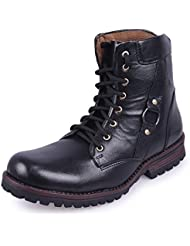 Andrew Scott Men's Black Synthetic Leather Boots