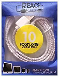 10 Foot Long iPhone iPad Charging Cord For iPhone 6, iPhone 5, iPad Air, Mini & iPod – This EXTRA…