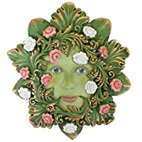Green Venezia - Green Man Garden Sculpture Wall Art - Greenmen by David Lawrence (H13cm) by Fiesta Studios