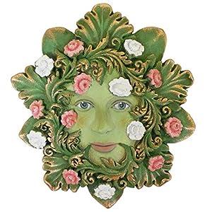 Green Venezia - Green Man Garden Sculpture Wall Art - Greenmen by David Lawrence (H13cm) by Fiesta Studios