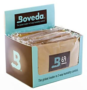 Boveda 69-Percent RH Retail Cube Humidifier/Dehumidifier, 60gm, 12-Pack
