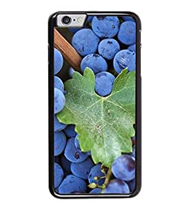 Fuson Premium 2D Back Case Cover Grapes With Black Background Degined For Apple iPhone 6 Plus