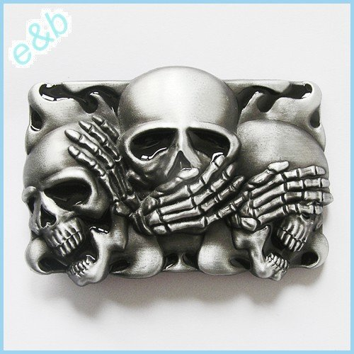 Why Should You Buy Brand:e&b NEW Casino Three Smiling Skulls Belt Buckle Cs-041bk