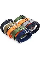 PerFit® ZULU4 Ballistic Nylon Watch Strap + Spring Bars, Field Ready/Fashion Forward, Lifetime Guarantee, Choose Color/Size(20mm,22mm,24mm)