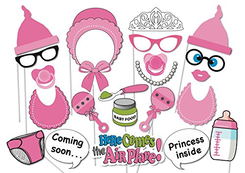 [USA-SALES] Baby Shower Photo Booth props, Attached to the stick, NO DIY REQUIRED Its A Girl, baby shower decoration, party photo booth (Photo Booth Props Baby Shower compare prices)