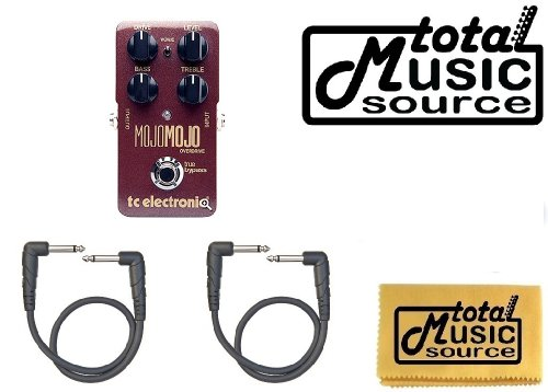 Tc Electronic Mojomojo Overdrive Guitar Effects Pedal Free 1' Cables & Tms Polish Cloth